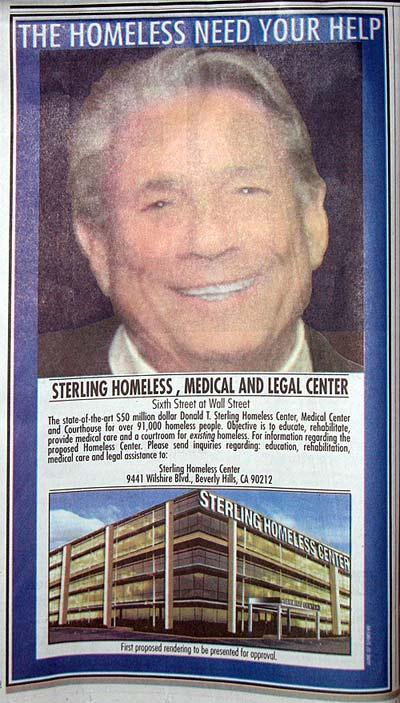 Donald Sterling Homeless Center Ugly Ad
